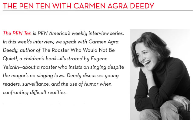 THE PEN TEN WITH CARMEN AGRA DEEDY